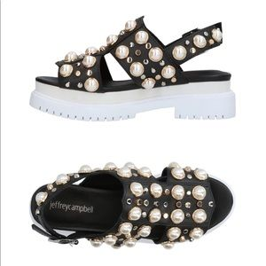Jeffrey Campbell embellished thick sole sandals